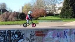 2 yr old rides balance bike – toddler Danny MacAskill