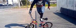 50yr old BMX rider does crazy bike tricks
