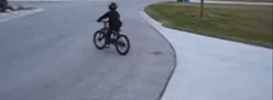 8 Year Old Jumps Car on a Mountain Bike