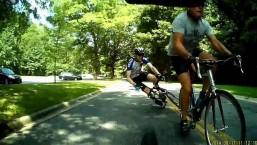Crazy Road Bike Crash