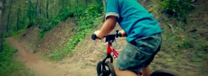 Cute 3 Year Old Kid on a Mountain Bike