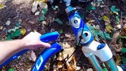 DESTROYED BIKE FRAME – Big Crash Norco mtb into tree GO PRO