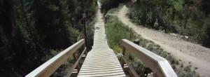 Downhill mountain biking Winter Park Trestle Be All U Can Be Go Pro helmet cam