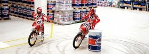 Honda World Motocross skids and wheelies – Nils 2013 factory visit