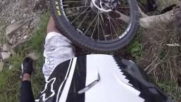 MTB Downhill crash — POV