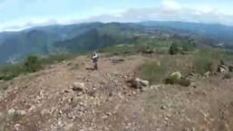 POV- Downhill MTB Tajumulco Volcano, San Marcos, Guatemala.