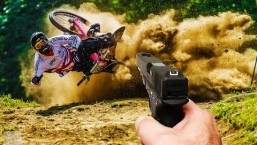 Biggest fails shot with a gun | Mountainbike chrashes