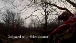 Steve Peat Crash Downhill Mountain Bike Follow cam with Ben Deakin