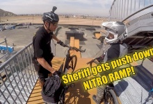 Biker Cop gets CRAZY at the Nitro Mega Ramp!!