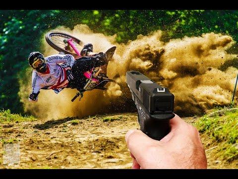 Biggest fails shot with a gun | Mountainbike chrashes