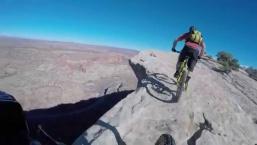 Riding on the Edge – Blue Dot Trail, Moab, UT