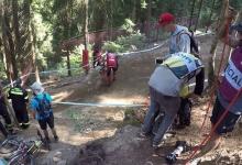 Greg Minnaar Crash Splitting Bike in 2